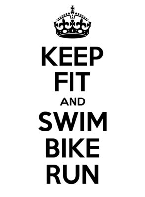 Keep Fit and Swim Bike Run Triathlon