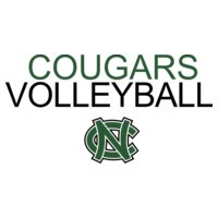Cougars Volleyball with NC logo   DN