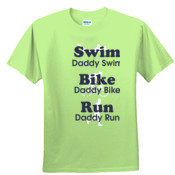 Triathlon Daddy Swim Bike Run with Icons - Youth Ultra Cotton™ 100% Cotton T Shirt 2