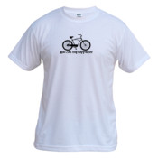 You Can Buy Happiness Men's Cruiser Bike - Vapor Basic Performance Tee