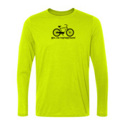 You Can Buy Happiness Men's Cruiser Bike - Light Ladies Long Sleeve Ultra Performance 100% Performance T Shirt