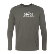 You Can Buy Happiness Men's Cruiser Bike - Youth Long Sleeve Ultra Performance 100% Performance T Shirt