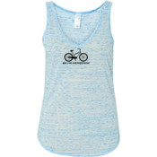 You Can Buy Happiness Women's Cruiser Bike - Ladies' Flowy V-Neck Tank
