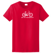 You Can Buy Happiness Women's Cruiser Bike - Ladies Ultra Cotton™ 100% Cotton T Shirt