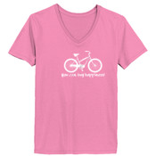 You Can Buy Happiness Women's Cruiser Bike - Ladies ComfortSoft® V Neck T Shirt