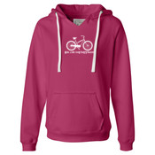 You Can Buy Happiness Women's Cruiser Bike - Ladies' Sueded V-Neck Hooded Sweatshirt