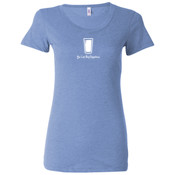 You Can Buy Happiness Beer Pint Glass - Ladies' Triblend Short Sleeve T-Shirt