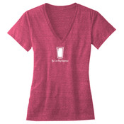 You Can Buy Happiness Beer Pint Glass - Ladies' Triblend Deep V-Neck T-Shirt