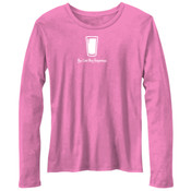 You Can Buy Happiness Beer Pint Glass - Bella Ladies'  4.2 oz. Missy Long-Sleeve Crew Neck Jersey T-Shirt