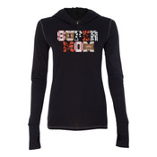 Super Mom with Favorite Player - Ladies' Triblend Long Sleeve Hooded Pullover