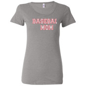 Baseball Mom with Favorite Player - Ladies' Triblend Short Sleeve T-Shirt