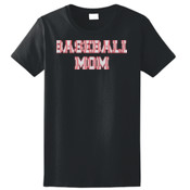Baseball Mom with Favorite Player - Ladies Ultra Cotton™ 100% Cotton T Shirt