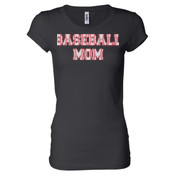 Baseball Mom with Favorite Player - Ladies' Sheer Jersey T-Shirt