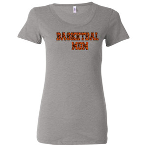 Basketball Mom with Favorite Player - Ladies' Triblend Short Sleeve T-Shirt