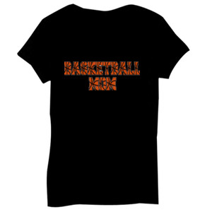 Basketball Mom with Favorite Player - Bella Short-Sleeve V-Neck T-Shirt