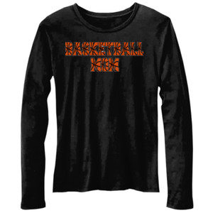 Basketball Mom with Favorite Player - Bella Ladies'  4.2 oz. Missy Long-Sleeve Crew Neck Jersey T-Shirt