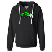 Colorado Rebels Lime - Ladies' Sueded V-Neck Hooded Sweatshirt 2