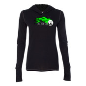Colorado Rebels Lime - Ladies' Triblend Long Sleeve Hooded Pullover 2