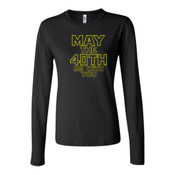 May the 40th Be With You  - Bella Long Sleeve Crew Tee
