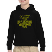 May The Force Run With You - Heavy Blend™ Youth 8 oz., 50/50 Hood