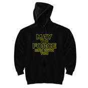 May The Force Run With You - DryBlend™ Pullover Unisex Hooded Sweatshirt
