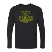 May The Force Run With You - Youth Long Sleeve Ultra Performance 100% Performance T Shirt
