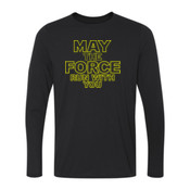 May The Force Run With You - Ladies Long Sleeve Ultra Performance 100% Performance T Shirt