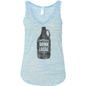 Drink Local Longmont Colorado - Ladies' Flowy V-Neck Tank
