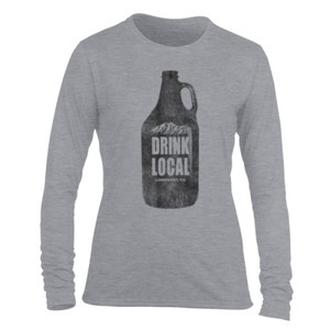 Drink Local Longmont Colorado - Light Ladies Long Sleeve Ultra Performance Active Lifestyle T Shirt