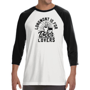 Longmont is for Beer Lovers - ALO 100% Performance Unisex Baseball T-Shirt