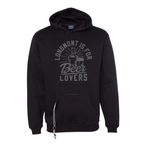 Longmont Is For Beer Lovers - Tailgate Hoodie with Koozie & Bottle Opener