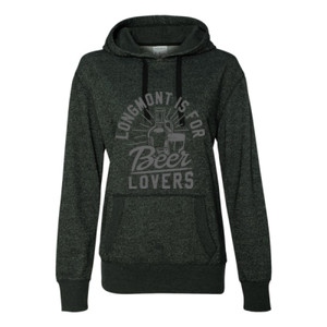 Longmont Is For Beer Lovers - Glitter Hoodie