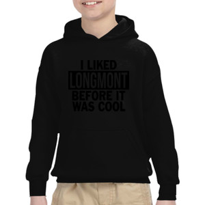 I Liked Longmont Before It Was Cool - Heavy Blend™ Youth 8 oz., 50/50 Hood