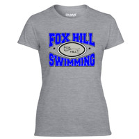 Fox Hill Swimming - Light Ladies Ultra Performance Active Lifestyle T Shirt