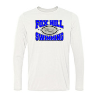 Fox Hill Swimming - Light Ladies Long Sleeve Ultra Performance Active Lifestyle T Shirt