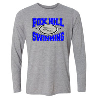 Fox Hill Swimming - Light Long Sleeve Ultra Performance Active Lifestyle T Shirt