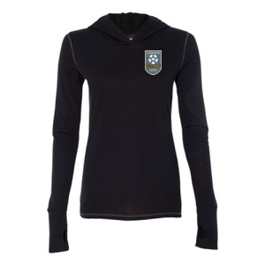 LFA Crest - Ladies' Triblend Long Sleeve Hooded Pullover