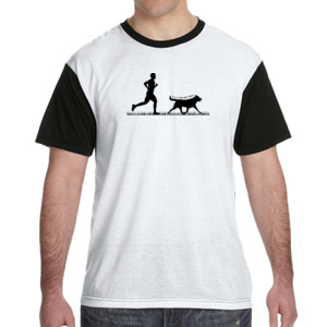 The Pacer - White Shirt with Black Sleeves/Back T-Shirt