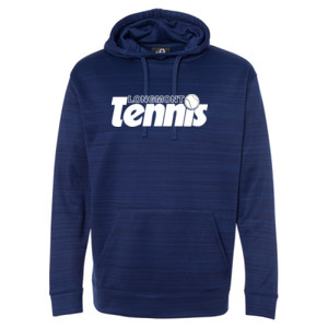 LT Tennis - Striped Poly Fleece Hooded Pullover Sweatshirt