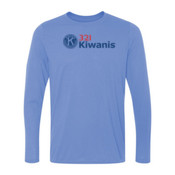321 Kiwanis - Light Ladies Long Sleeve Ultra Performance Active Lifestyle T Shirt
