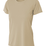 (S) Ladies' Shorts Sleeve Cooling Performance Crew Light Color Shirt