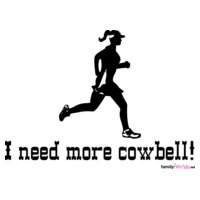 i need more cowbell running woman