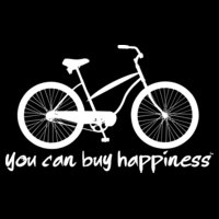You Can Buy Happiness - Women's Cruiser Bicycle - White