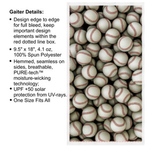 Baseball Collage - Multi-Purpose UV Gaiter