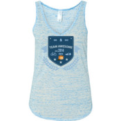 Team Awesome - Ladies' Flowy V-Neck Tank
