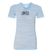 You Can Buy Happiness Women's Cruiser Bike - (S) Ladies' Cotton/Polyester T-Shirt
