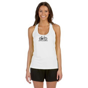 You Can Buy Happiness Women's Cruiser Bike - Alo Sport Ladies' Performance Racerback Tank