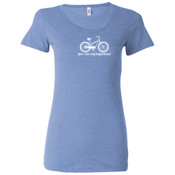 You Can Buy Happiness Women's Cruiser Bike - Ladies' Triblend Short Sleeve T-Shirt