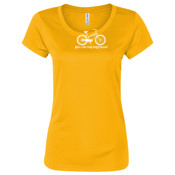 You Can Buy Happiness Women's Cruiser Bike - Dark ALO Sport Ladies' Polyester T-Shirt