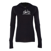 You Can Buy Happiness Women's Cruiser Bike - Ladies' Triblend Long Sleeve Hooded Pullover